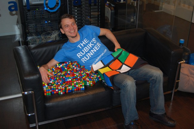 Proud Uli with Rubiks Cubes
